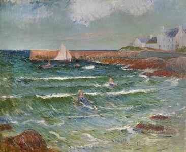Henry Moret, 'Baignade de mer à Lomener', ca. 1889