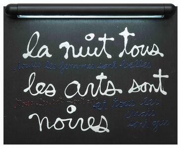 Ben Vautier, 'La nuit tous les arts sont noires', 2004