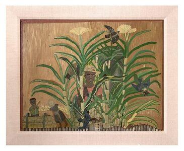 Morris Louis, 'Oil Painting 1949 Figurative Scene in a Bamboo Jungle Plantation', 1940-1949