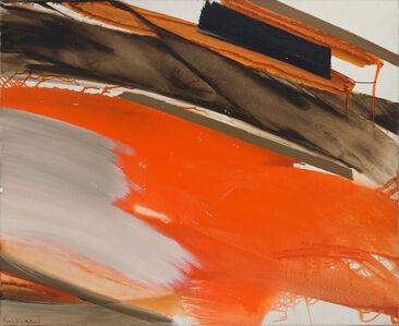 Huguette Arthur Bertrand, 'Déferlant rouge et gris sur brun', ca. 1970