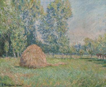 Blanche Hoschedé-Monet, 'Meule de Foin, Plaine des Ajoux, Giverny', ca. 1884