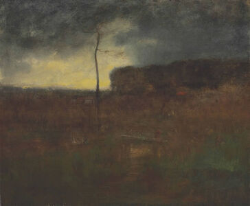 George Inness, 'A Cloudy Day', 1886