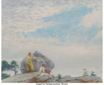 Charles Courtney Curran, 'Gray Day on the Cliff', 1935