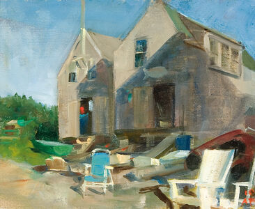 Alexandra Tyng, 'Blue and White Chairs'