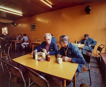 Paul Graham, 'Drivers Discussing Redundancies, Morleys Café, Markham Moor, Nottinghamshire, November', 1981