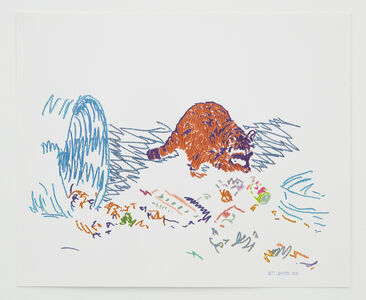 Butt Johnson, 'Untitled (Raccoon)', 2018
