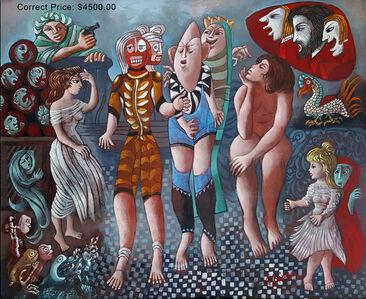 Julio De Diego, 'Critics in a red cloud'