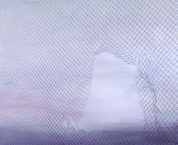 Driss Ouadahi, 'Flying fence', 2016