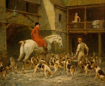 George Wright, 'The Inn Yard', 19/20th Century