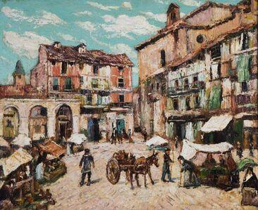 Ernest Lawson, 'Market Place, Segovia', 1916