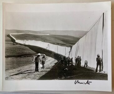 Javacheff Christo, 'Vintage Silver Gelatin Photograph Christo Wolfgang Volz Photo Running Fence', 20th Century