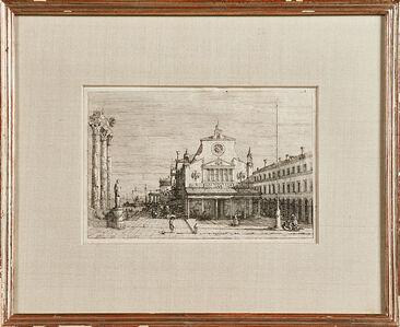"""Studio of Giovanni Antonio Canal, called Il Canaletto, '""""Veduta Fantastica di S. Giacomo a Rialto""""', ca. 1740"""
