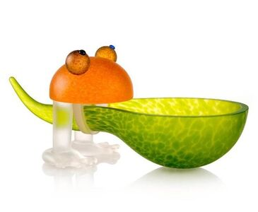 Borowski Glass, 'Frosch/Frog Bowl: 24-01-37 in Lime Green', 2018