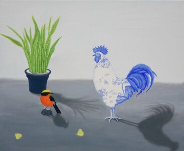Woo-lim Lee, 'A hen in blue and white glaze', 2020