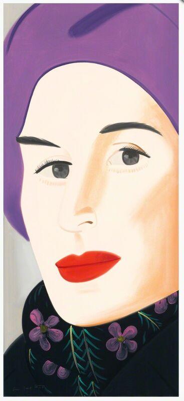 Alex Katz, 'Purple Hat Ada', 2017, Print, Archival pigment inks on Crane Museo Max 365 gsm fine art paper, Gregg Shienbaum Fine Art