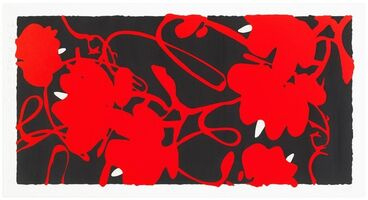 Donald Sultan, 'Lantern Flowers Red, February 17, 2002', 2002