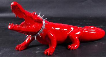 Richard Orlinski, 'Resin Crocodile with Aluminum Wild Neck'
