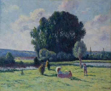 Maximilien Luce, 'Famille se reposant au soleil', 1908