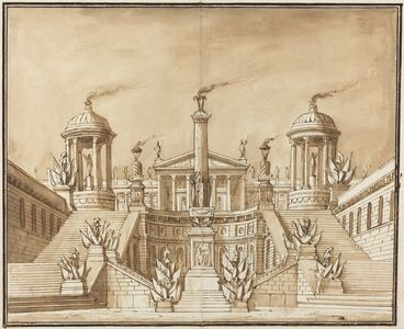 Pietro Gonzaga, 'Fantasy of an Ancient Capitol with Trophies and Grand Staircases', ca. 1800