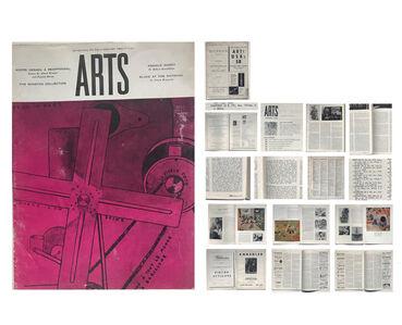 Jasper Johns, 'Jasper Johns- FIRST ONE MAN SHOW REVIEW, Leo Castelli Gallery, Review by Robert Rosenblum, ARTS Magazine (Arts Digest),', Jan. 1958