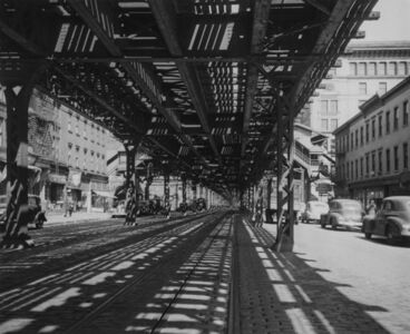Arnold Eagle, 'Under the Third Avenue El, North of 27th St., New York', 1939