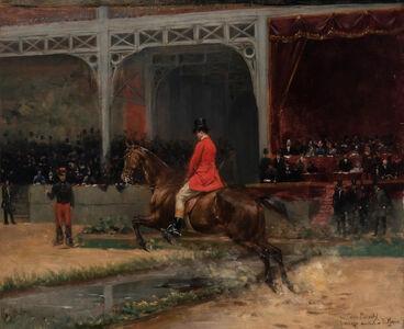 Emile Meyer, 'Count Potocki Riding in the Horse Show at the Hippodrome, Paris'