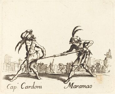 after Jacques Callot, 'Cap. Cardoni and Maramao'