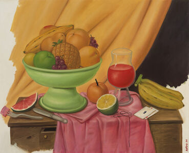 Fernando Botero, 'Still life with Playing Cards', 1994