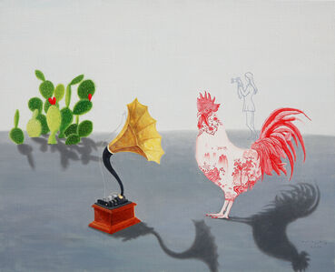 Woo-lim Lee, 'A Chicken in Red and white glaze', 2020