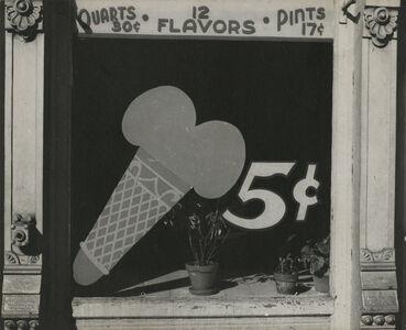Peter Sekaer, 'Ice Cream Cone Sign, Bowling Green, Virginia', c.1935