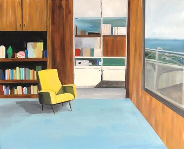 Polly Shindler, 'Office with Yellow Chair and View', 2019
