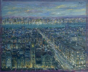 Bruno Zupan, 'View over Old South Church, View to Cambridge', 2020