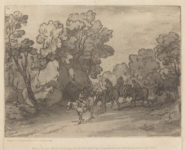Thomas Gainsborough, 'Wooded Landscape with Riders', mid 1780s