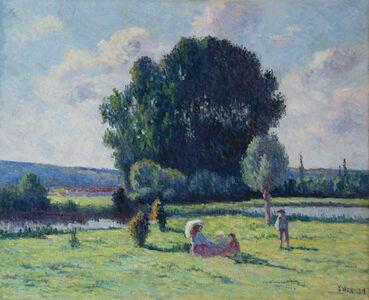 Maximilien Luce, 'Une famille se reposant au soleil', 1908