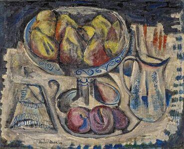 Federico Aguilar Alcuaz, 'Stillleben mit Birnen', 1958