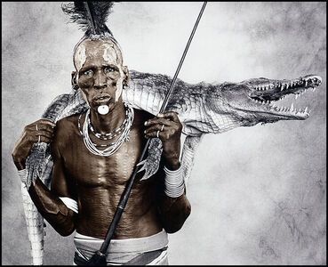 Jan C. Schlegel, 'Biwa (44) with Crocodile, Karo Tribe, Ethiopia', 2010