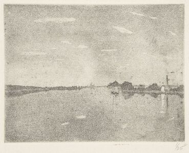 Bernard Leach, 'Angler fishing, Ruins in a landscape, and Night on the Thames', 1908-09