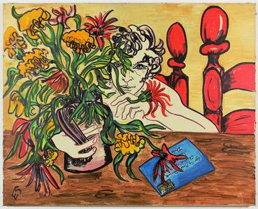 Edwina Sandys, 'Portrait with Flowers', ca. 1970
