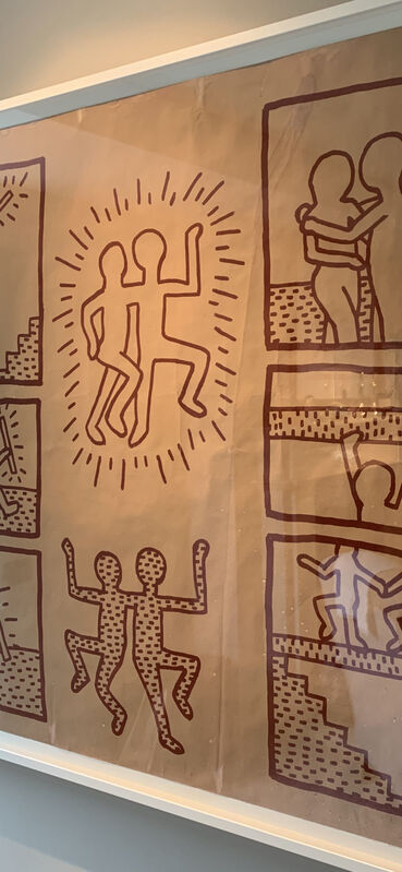 Keith Haring, 'UNTITLED ('BLUEPRINT' JAN 15, 1981)', 1981, Print, Photostat, blueprint paper, Artificial Gallery