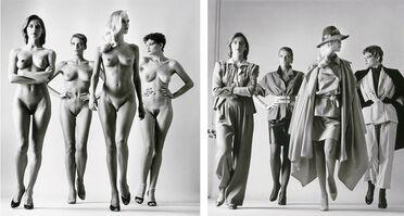 Helmut Newton, 'Sie Kommen (Dressed and Undressed) signed', 1981