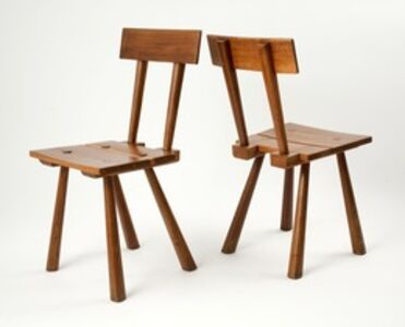 Marolles, 'Pair of Side Chairs', ca. 1960