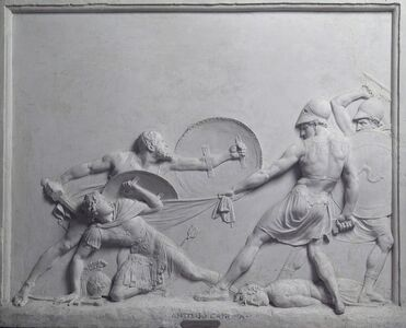 Antonio Canova, 'Socrates Rescues Alcibiades at the Battle of Potidaea', 1797