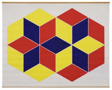 Trevor Vickers, 'Yellow Hexagon & Red Hexagon', 1970-1971