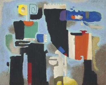 Willi Baumeister, 'Kessaua statuarisch', 1954