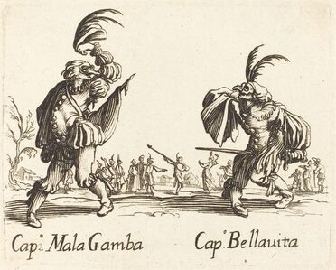after Jacques Callot, 'Cap. Mala Gamba and Cap. Bellavita'
