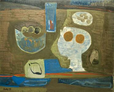Francisco Bores, 'Composition sur fond brun', 1959