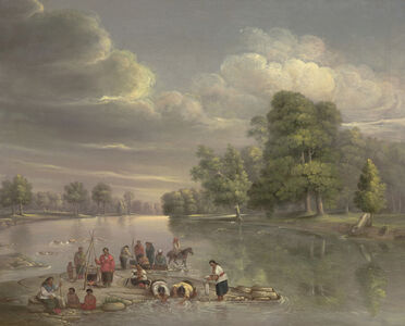 George Winter, 'Scene on the Wabash', ca. 1848