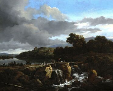 Jacob van Ruisdael, 'Landscape with Cascade', ca. 1670-1675