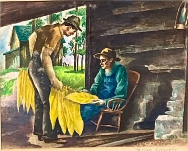 William S. Schwartz, 'Prime Grade -WPA drawing 1930s 1940s Modern', ca. 1930s