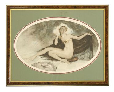 Edouard Chimot, 'A NUDE WITH A SHAWL'
